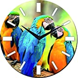 MeSleep Parrot Wall Clock With Glass Top