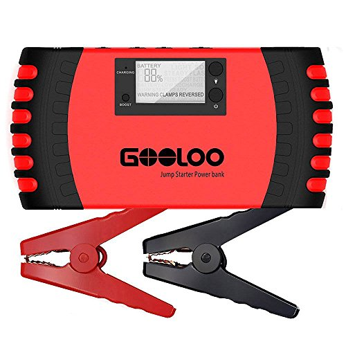 GOOLOO 650A Portable Car Jump Starter 18000mAh Phone Power Bank Auto Battery Charger Pack Booster with Dual USB Charging Port, LCD Screen and LED Light, Built-in Smart Protection (Lithium Jump Starter Battery compare prices)