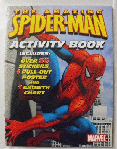 Marvel The Amazing Spiderman 24 Page Activity Book. Includes Over 30 Stickers 1 Pull-Out Poster And 1 Growth Chart. Heat Sealed In Copyrighted Labeled Sleeve. Made In The Usa Bendon Publishing Childrens Books.