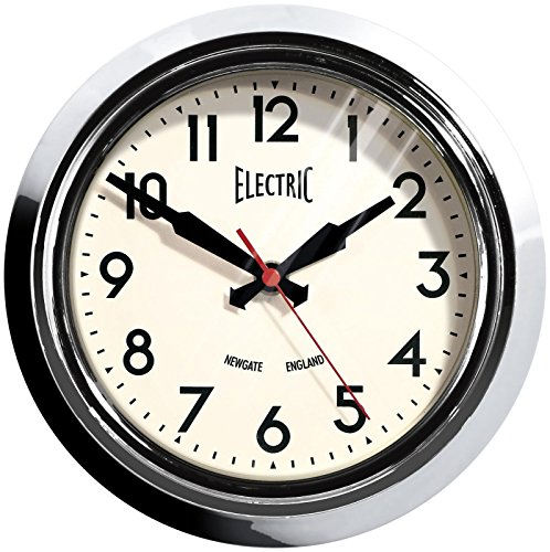 Newgate Small Electric Clock, Chrome