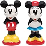 Mickey And Minnie Mouse Ceramic Shaker Set: Disney Duo Handpainted Ceramic