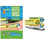 SafetyTat Child ID Tattoos (Multi-Design 6pk)