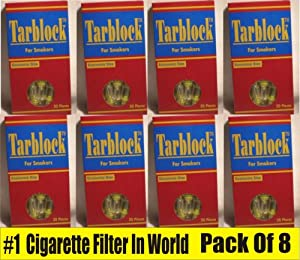 Tarblock-8 Packs of Cigarette Filters for Smokers