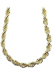 """Mega Jewellery 18K Gold Plated RUN DMC HIP HOP Rope Dookie Chain 10mm X 30"""" Stainless Steel High Quality"""