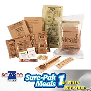 Sure-Pak MRE Full Meal Kit with Heater - Single Sample (Civilian MRE) by Sure Pak