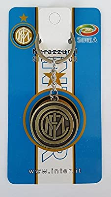 Football Club Inter Milan Logo Metal Bronze Double Faced Keychain