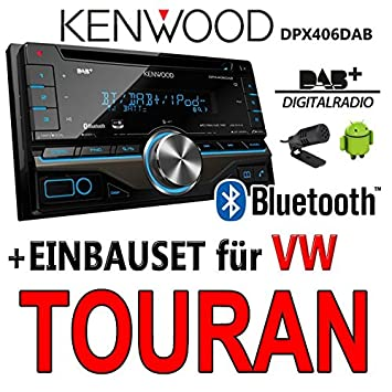 VOLKSWAGEN touran dPX406DAB bluetooth 2-dIN pour autoradio kenwood autoradio dAB uSB avec kit de montage