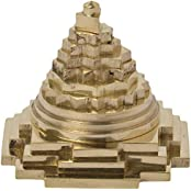 Ramraj Brass Meru Shree Yantra (5cm X 5cm X 4.5cm, Copper Colour)