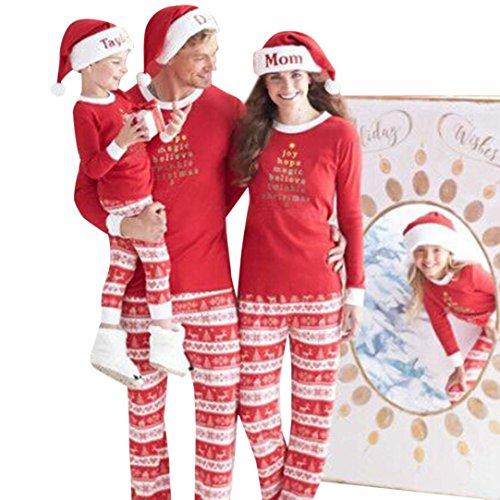 [AMA(TM) Christmas Pajamas Family Sets Red Sleepwear Nightwear Pyjamas XMAS Gift (X-Large, Dad)] (Xxl Santa Suits For Sale)