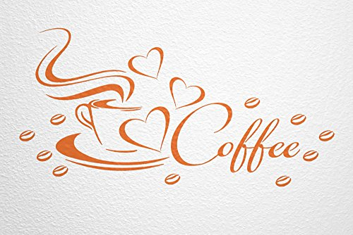 WANDfee-Wandtattoo-Coffee-Kaffeetasse-Herz-und-Bohnen-AC0430009-Gre-82-x-41-cm-Farbe-orange
