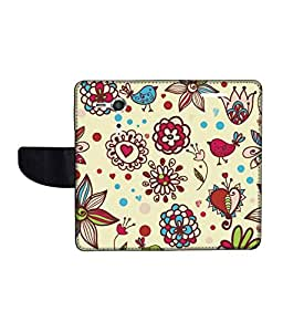 KolorEdge Printed Flip Cover For Sony Xperia SP Multicolor -(45KeMLogo12095XperiaSP)