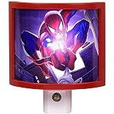 Amertac M9103 Marvel Spider-Man LED Night Light, Red