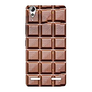 Delighted Delicious Choco Back Case Cover for Lenovo A6000 Plus