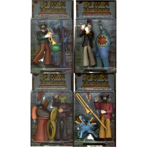 The Beatles Sgt Peppers Lonely Hearts Club Band John Paul George Ringo 8 Action figure Set (1999 McFarlane)