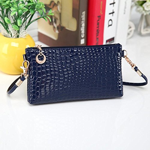 Women Shoulder Bags Messenger Bag PU Leather Crossbody Bags Satchel Handbag New, Blue. (Kirby Vacuum Bag Clip compare prices)