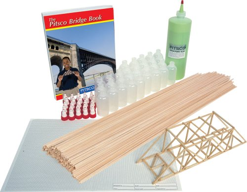 Pitsco 51706 Balsa Wood BridgePak Kit, For 25 Students