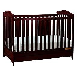 Athena Jeanie 3-in-1 Convertible Crib, Cherry