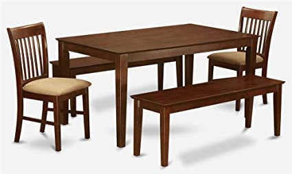 5-Pc Dining Set in Mahogany Finish