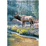 Elk Reflection Wildlife Garden Flag Winter Double Sided Mini Banner 13