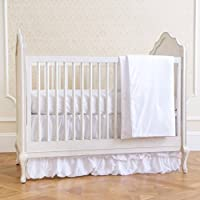 Summer Infant 4-Piece Classic Bedding Set with Adjustable Crib Skirt, Swiss Dot