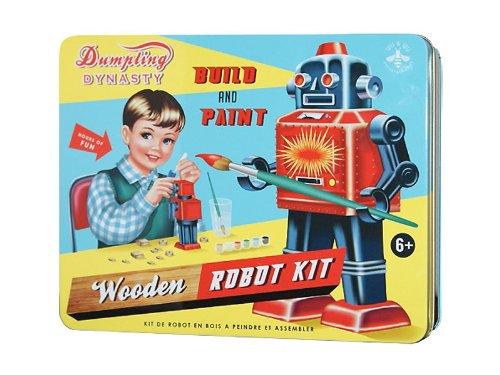 """Cotton Candy Roboter Baukasten in Nostalgie Dose """"Robot Kit"""" Jungen Bauset/Bastelset"""