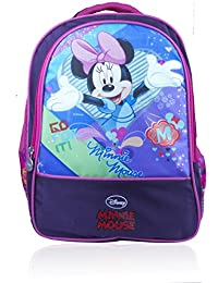 Disney School Bag For Girls 06+ Years M Minnie Mouse 13 (L) Purple (Dm-0050)