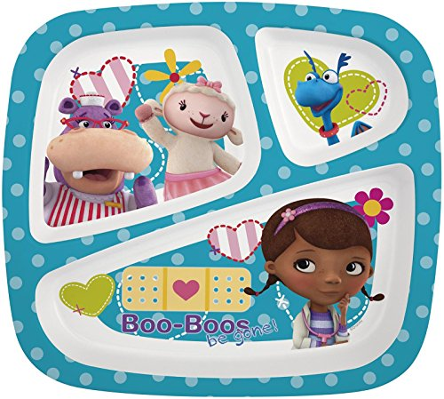 Zak! Designs Three-Section Plate - Doc McStuffins - 1