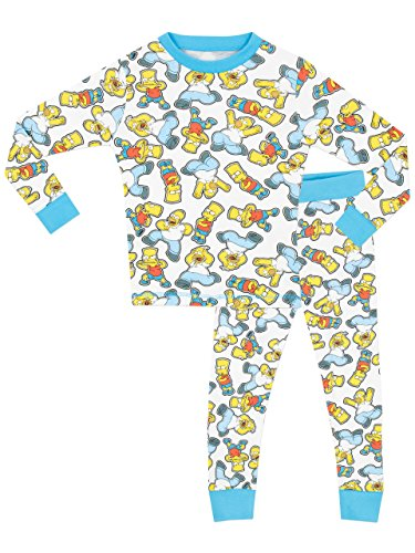 simpsons-pijama-para-ninos-simpsons-ajuste-cenido-12-13-anos