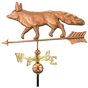 Good Directions 655P Fox Weathervane, Polished Copper