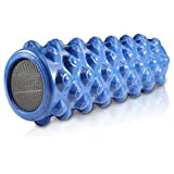 Fitness Innovations High Density Extra Firm Foam Roller with Trigger Points for Deep Tissue Massage for Intense Myofascial & Full Body Stiffness Relief Perfect for Pilates, CrossFit & Weight Training