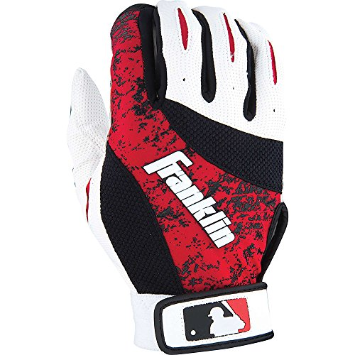 Franklin Youth 4Th Skinz Batting Gloves (Pair), White/Red, Large