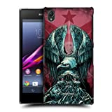 Head Case Tribute Metal Chevron Snap-on Back Case Cover For Sony Xperia Z1 C6902