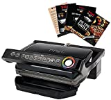 T-Fal GC704 Opti Grill with Ceramic Plates & Recipe Book, Black
