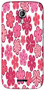 Snoogg seamless floral pattern flowers texture daisy Designer Protective Back Case Cover For Micromax A117