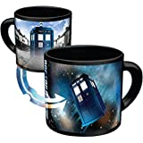 Doctor Who - Disappearing TARDIS Coffee Mug - Add Hot Liquid and Watch The TARDIS Move From London to the Stars - Comes in a Fun Gift Box - by The Unemployed Philosophers Guild