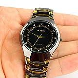 Vale® Mode Hommes bracelet en acier inoxydable Sport Quartz analogique montre-bracelet...
