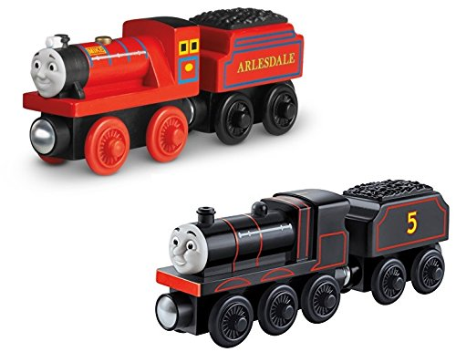 Fisher-Price Thomas the Train Wooden Railway Mike AND Origins 70th James (Fish Bowl Toy Fisher Price compare prices)