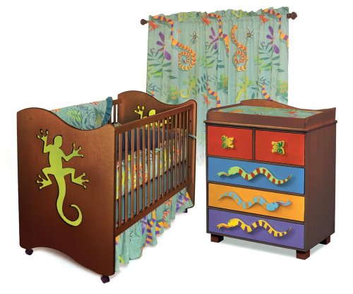 Room Magic Nursery Set, Little Lizard Chocolate