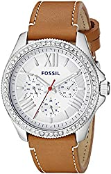 Fossil Women's AM4623 Cecile Crystal-Accented Stainless Steel Watch