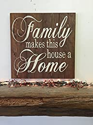 Family Makes This House A Home Wood Pallet Sign Photo Display Wall