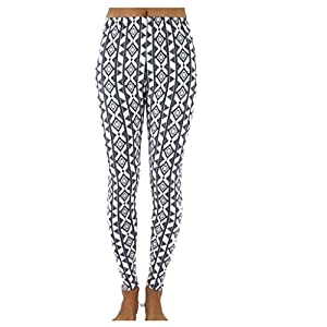 TD Women's Fashion Pattern Print Stretch Leggings Tights Pants S-M Multi
