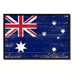 Australia National Shabby Chic Flag Art Canvas Print Wall Home Décor Interior Design Souvenir Gift Ideas