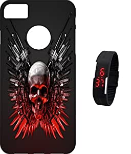 BKDT Marketing Printed back cover for Apple Iphone 7 With Digital Watch