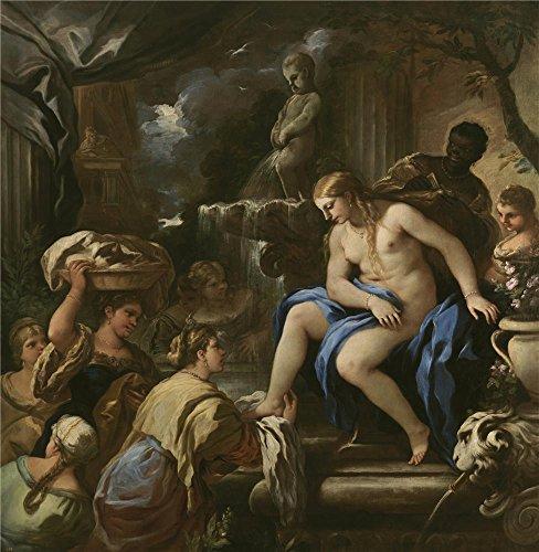 oil-painting-giordano-luca-bethsabe-en-el-bano-1697-98-10-x-10-inch-25-x-26-cm-on-high-definition-hd