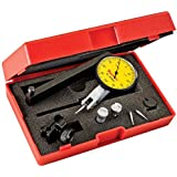 Starrett Dial Test Indicator with Dovetail Mount and 4 Attachments 2 Extra Contacts, Yellow Dial