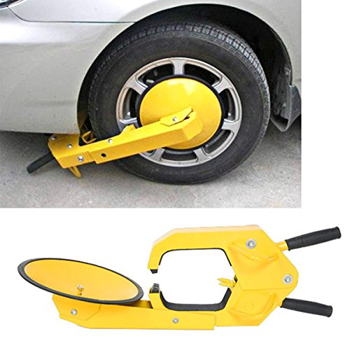 Dealkoo Wheel Lock Clamp Boot Tire Claw Auto Car Anti Theft Lock (Electronic Key Cutting Machine compare prices)