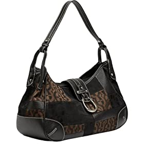 Etienne Aigner Geometric Logo Patchwork Hobo