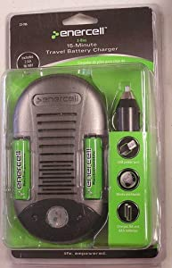 Enercell 2-Bay 15-Minute Travel AA & AAA Battery Charger 23-785
