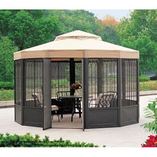 Sale riplock fabric replacement canopy for sam 39 s club sunhouse gazebo heik - Enclosed gazebo models ...