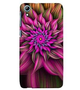 PrintVisa HTCD826-Corporate Print & Pattern Modern Art Flower Back Cover (Multicolor)